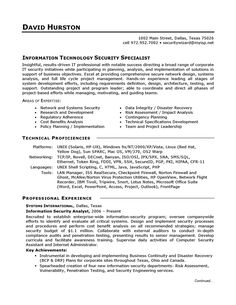 Information Technology (IT) Sample Resume