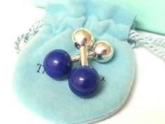 TIFFANY & CO.  Cuff Links Lapis Lazuli by STUNNINGCOLLECTIBLES