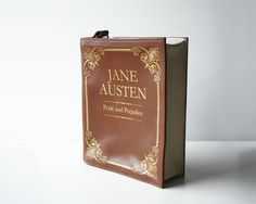 Jane Austen Leather Book Bag Brown Leather Book Purse by krukrustudio on Etsy https://www.etsy.com/listing/218772770/jane-austen-leather-book-bag-brown