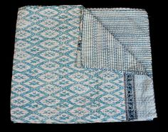 Bedding Spirited Vintage Kantha Quilt Indian Handmade Cotton Bedspread Sashiko Throw Bedding Home, Furniture & Diy