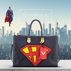 Valentino Superhero Tote Bag | Superman® Theme | 28 x 40 x 17 cm | Available For Pre-Order  For inquiries, please contact sales@shayyaka.com or +961 71 594 777 (Call, SMS, WhatsApp, or iMessage) or Direct Message on Instagram (@Shayyaka). Guaranteed 100% Authentic | Worldwide Shipping | Bank Transfer or Credit Card