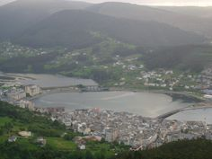 View from San Roque mountain on the historic centre of #Viveiro #LitaPalas