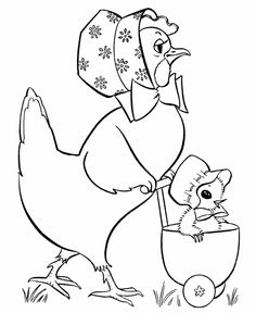 Easter Chicks Coloring page | Baby Stroller Chick