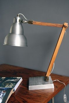 Retro Metal Desk Lamp  These perfect retro metal and wood desk lamps are suitable for everyone!   There is no better way to brighten up your workspace, bedside, coffee table, need I go on?  The desk lights are made in metal and wood.  The Retro Metal desk light is 48cm adjustable. £149.00 by lourdes