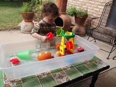 DIY water table, cant wait to do this for ava!