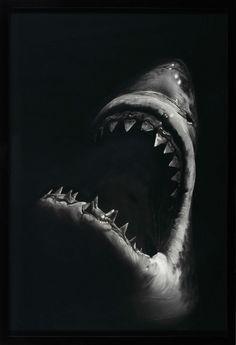 Robert Longo Shark 7, 2008 Kohle auf Papier 234 x 151 cm