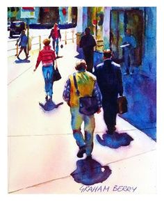 "Daily+Paintworks+-+""Sunny+corner.""+-+Original+Fine+Art+for+Sale+-+©+Graham+Berry"