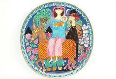 STIG LINDBERG CHRISTMAS ART( NO. 1) PLATE FOR GUSTAVSBERG. in Scandinavian Pottery | eBay
