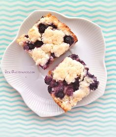 Blueberry Lemon Breakfast Bars (grain-free)