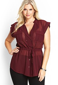 Sophisticate Double-Breasted Top   FOREVER21 PLUS - 2000064159