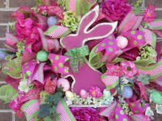 Easter Wreath Easter Bunny Wreath Easter by Fromthesouthdesigns