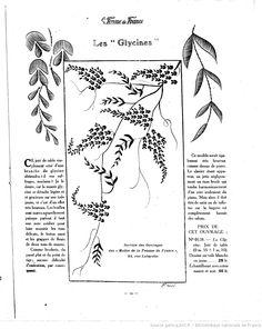 Les Glycines (wisteria) 19   1920/08/08 (A6,N274)  Les Modes de la femme de France