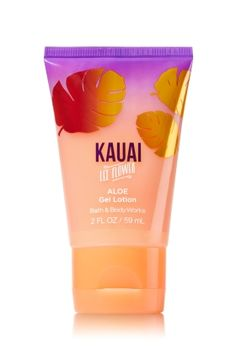 Kauai Lei Flower - Preview Aloe Gel Lotion - Signature Collection - Bath & Body Works - Get swept away to paradise! Our luxuriously lightweight, ultra-refreshing formula with soothing Aloe and nourishing Coconut & Monoi Oils absorbs quickly, leaving a silky smooth finish.