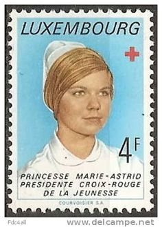 1974 Luxembourg Red Cross Nurse