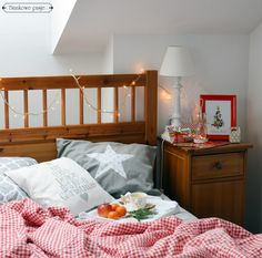 Christmas bedroom, home decorations