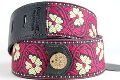 Copperpeace Vintage May embroidered guitar strap from www.guitarbox.co.uk