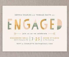 19 Festive Engagement Party Invitations That Wont Break the Bank