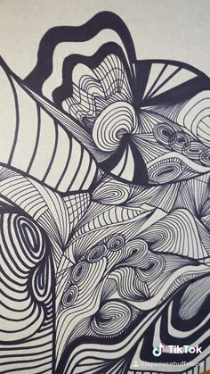 going up soon Ink Pen Drawings, Abstract Drawings, Diy Crafts And Hobbies, Painting Styles, Generative Art, Doodle Patterns, Line Illustration, Psychedelic Art, Conceptual Art