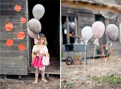 DIY: Fabric Balloons!♥...Make these balloons in multiple colors and in a combination of coordinating fabrics.