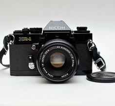 Vintage Ricoh XR-1 35mm Film SLR Camera w/ XR Rikenon f2.0 50mm Lens by vtgwoo on Etsy