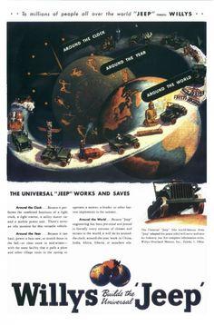 Willys Jeeps Ads, 1945