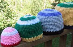 Simple Single Crochet Beanie Hats, free pattern