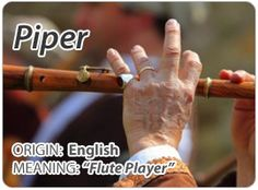 The name Piper is used as a Unisex baby name. In 2011 Piper was a given name for 2,704 girls born in the United States