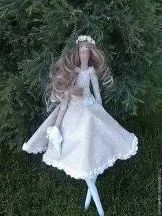 Тильда невеста - бежевый, тильда кукла, тильда, тильда невеста, ручная авторская работа