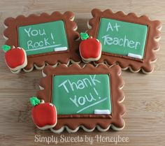 Teacher Appreciation Cookies - from simplysweetsbyhoneybee.com