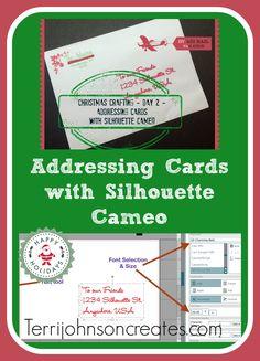Addressing Christmas Cards with Silhouette Cameo | Terri Johnson Creates