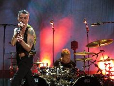Dave Gahan with extraordinary drummer Christian Eigner, Depeche Mode in Chicago