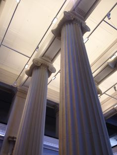 Ionic columns inside Auckland War Memorial Museum inspired by Ancient Roman Architecture.