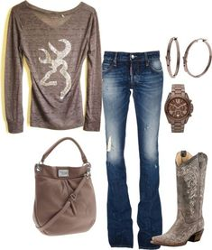 Cute country outfit, I love the boots! :)