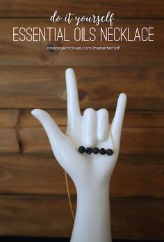 DIY Essential Oil Diffuser Necklace- Must do this for Christmas presents this year