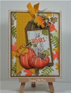 Stampin Up For All Things and Fall Fest card