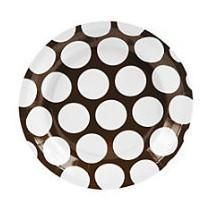Add a little fancy to your table with our polka dot dessert size plates! Sold in sets of 8. Don't forget coordinating napkins, utensils and table cloths!