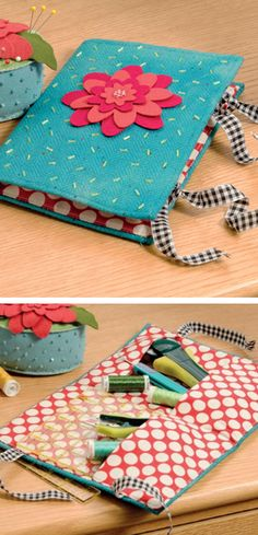 Try using hand-dyed wool to make a beautiful case for your sewing tools. From the book Sew Practical: 13 Fun-to-Sew Designs for You and Your Home.