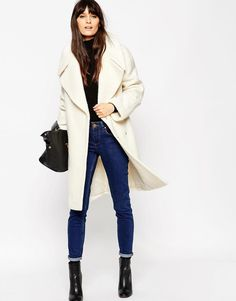 ASOS | ASOS Coat in Oversized Fit with Turn Back Cuff at ASOS
