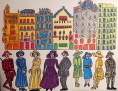 """Ilustración """"Manzana de la Discordia"""" Barcelona."""