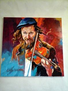 20% sale Jewish Happy Musician Violinist by art4heart2014 on Etsy