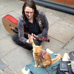 A street cat named Bob--This will be me and Mr. Buddy one day