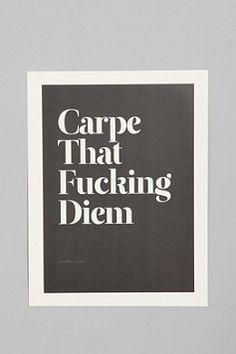 hah...    Wordboner for Society6 Carpe Print at Urban Outfitters