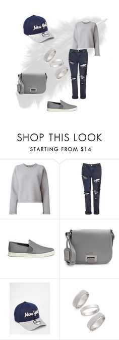 """""""Monika Chilled"""" by kallysantos on Polyvore featuring T By Alexander Wang, Glamorous, Vince, Badgley Mischka, New Era, Topshop, women's clothing, women's fashion, women and female"""