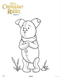 free disney piglet coloring page christopherrobin disney christopher robin disney printables free printables