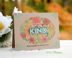 KIND by Stamping Virginia - Cards and Paper Crafts at Splitcoaststampers Scrapbook Supplies, Scrapbooking, Card Making Techniques, Simon Says Stamp, Card Kit, Cardmaking, Card Ideas, Stamp Card, Greeting Cards