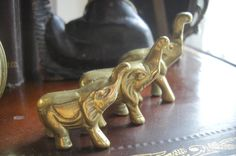 Set of 3 small brass elephants $33 - Chicago http://furnishly.com/set-of-3-small-brass-elephants.html