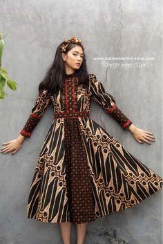 Dress Hijab Batik 46 Ideas For 2019 Trendy Dresses, Nice Dresses, Fashion Dresses, Batik Muslim, Mode Batik, Batik Kebaya, Amarillis, Batik Fashion, Diy Dress