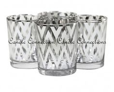 48 Silver Designer Votives - Other Quantities Available https://www.tradesy.com/weddings/wedding-decorations/48-silver-designer-votives-other-quantities-available-1081527