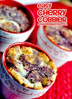 Easy Cherry Cobbler- amazing flavor and so simple to make!