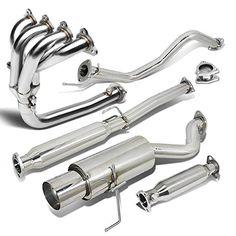 "Honda Civic 3DR 4.5"" Muffler Tip Catback+4-1 Header+High Flow Cat Exhaust System - 6th Gen D16 EK9 - https://www.caraccessoriesonlinemarket.com/honda-civic-3dr-4-5-muffler-tip-catback4-1-headerhigh-flow-cat-exhaust-system-6th-gen-d16-ek9/  #Catback41, #Civic, #Exhaust, #Flow, #HeaderHigh, #Honda, #Muffler, #System #Exhaust-Systems, #Performance-Parts-Accessories"
